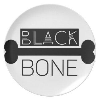 BLACK_BONE PARTY PLATES