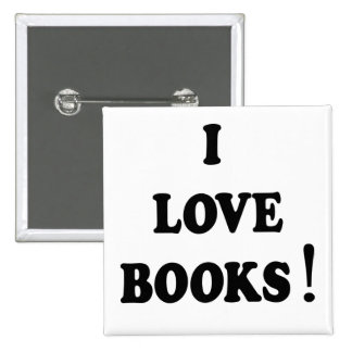 "Black Books ""I Love Books"" Button"