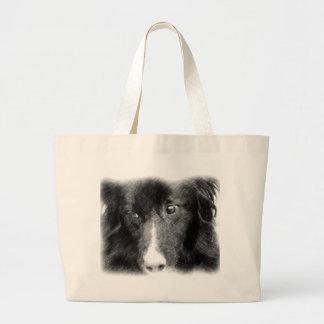 Black Border Collie Animal Art Tote Bag