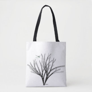 Black Bouquet Tote Bag