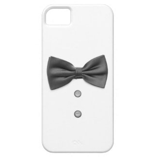 Black bow tie and buttons iPhone 5 covers