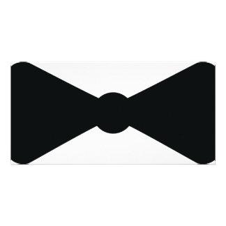 black bow tie icon custom photo card