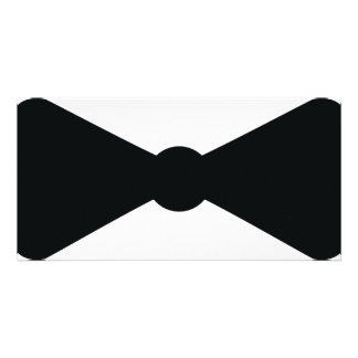 black bow tie icon customized photo card