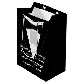 Black Bow Tie Tuxedo Medium Gift Bag