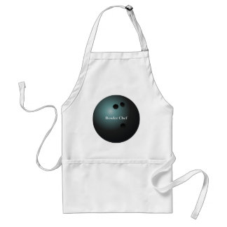 Black Bowling Ball Apron