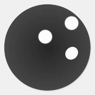 Black Bowling Ball Round Sticker