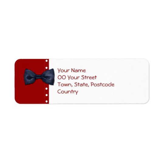Black BowTie Return Address Label
