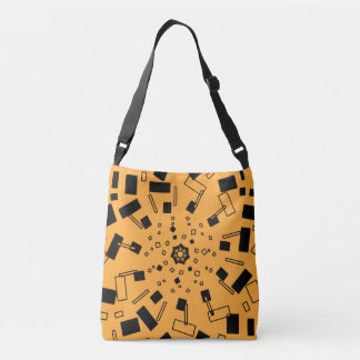 Black box explosion crossbody bag
