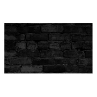 Black Brick Wall background Pack Of Standard Business Cards