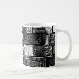 Black Bricks Basic White Mug