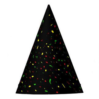 Black Bright Confetti Party Hat