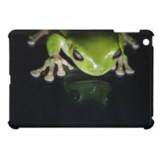 Black Bright Green Frog iPad Mini Case