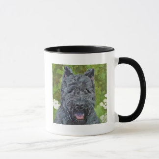 Black Brindle Bouvier Des Flanders Dog Art Mug