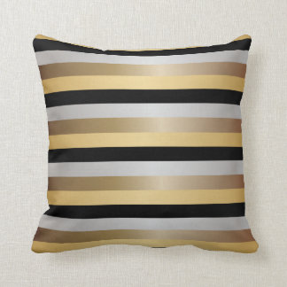 Combining dual patterns in gold, black and white, the Ogee Stripe Square Throw Pillow infuses your home with a modern art touch. With the option to personalize the pillow with a letter, it will surely add a unique decorative accent to your bedding.