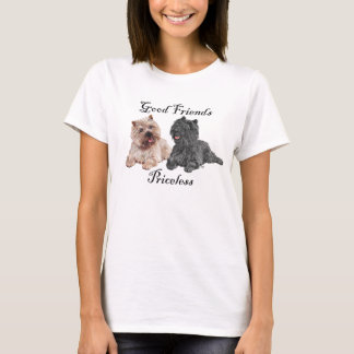 Black & Brown Cairn Terriers T-Shirt