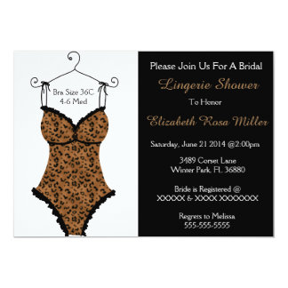 Black & Brown Corset Lingerie Bridal Shower Invite