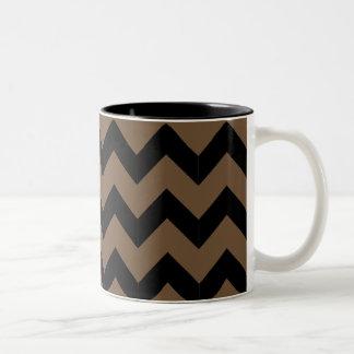 Black & Brown Zig Zag Mug