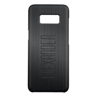Black Brushed Aluminum Metallic Look Case-Mate Samsung Galaxy S8 Case
