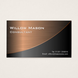 Black Brushed Copper Curved, Business Card