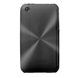 Black Brushed Metal iPhone 3 Case-Mate Case