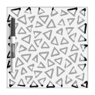 Black Brushstroke Triangel Pattern, Nordic Design Dry Erase Board