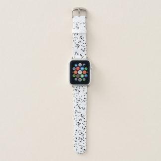 Black Bubble Splatter Pattern Apple Watch Band