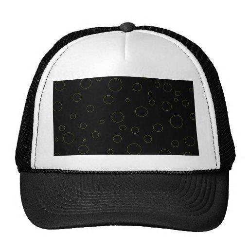 Black Bubbles Urban Modern Trucker Hats