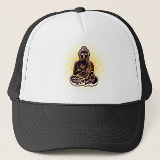 Black Buddha Power Trucker Hat