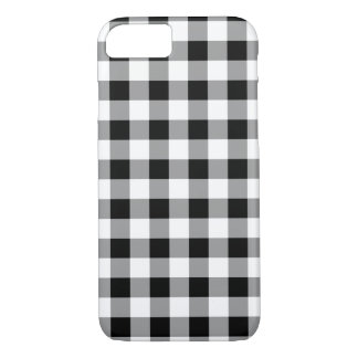 Black Buffalo Plaid White iPhone 8/7 Case