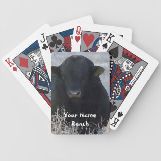 Black Bull in Tumbleweeds - Your Name Ranch Bicycle Playing Cards