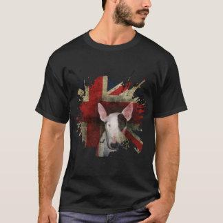 Black Bull Terrier Union Jack Basic t-shirt