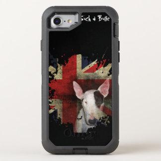 Black Bull Terrier Union Jack OtterBox Defender iPhone 8/7 Case