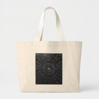 Black Bull's Eye (black minimalism) Canvas Bag