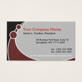 Black, Burgundy, and Gray Business Card