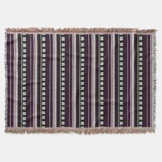 Black & Burgundy Nordic Knit Snowflake Graphic Throw Blanket