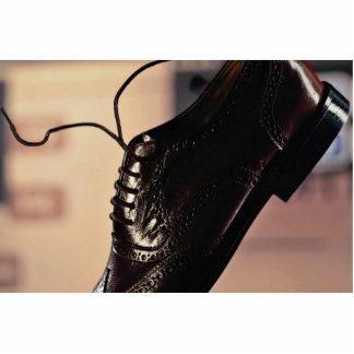Black Business shoe for businessmen Standing Photo Sculpture