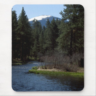 Black Butte over the Metolius Mouse Pad