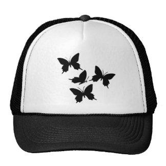 Black ButterfliyDesign on a Trucker Hat