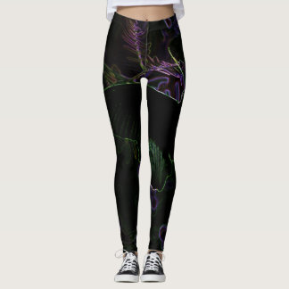 Black Butterfly Custom Leggings