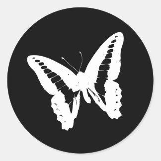 Black Butterfly Envelope Sticker Seal