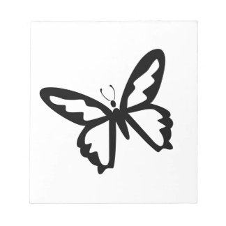 Black Butterfly Notepad