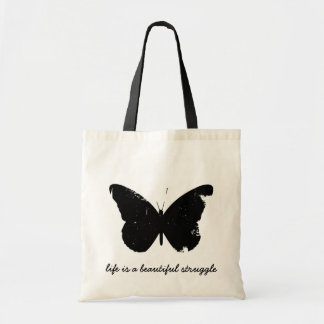Black Butterfly Tote Budget Tote Bag