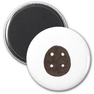 Black Button 6 Cm Round Magnet