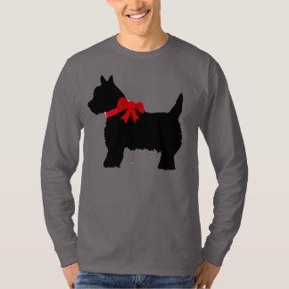 Black Cairn Scottish Terrier long sleeve tee