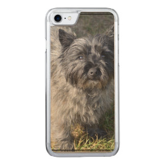 Black Cairn Terrier Carved iPhone 8/7 Case
