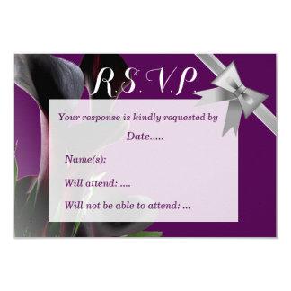 Black Calla Lily Wedding 9 Cm X 13 Cm Invitation Card