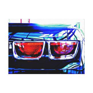 Black Camaro ZL1 Tail Lights - altered Canvas Print