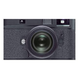 Black camera business card templates