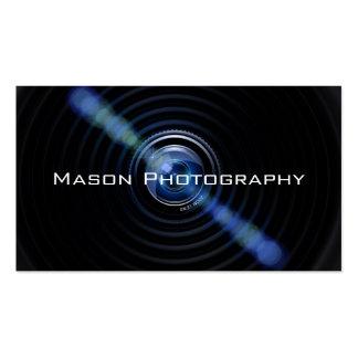 Black Camera Lens Photographer Business Card