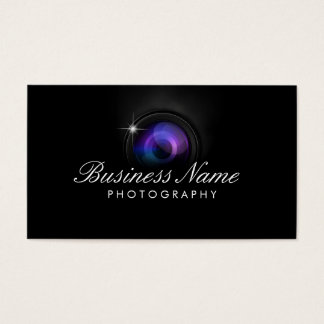 Black Camera Lens Photography Studio Business Card